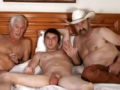 Cowboy, older man and  man