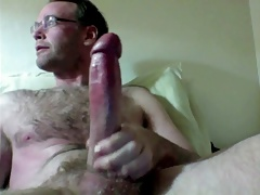 Dad web cam gigantic rod..