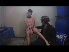 Slaveboy punished 1 fag..