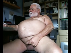 Ginormous  Grandpa Milks Off..