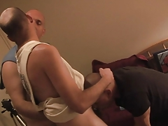 Hunky  stud disciplined by his