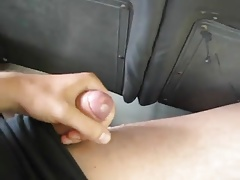 Asia Guy Jizz in Bus