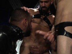 Wild Slavery Gay Three-way Sex