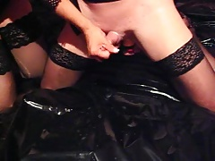 crossdresser shoots his jizz..